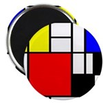 Mondrian-4a Magnet Magnets