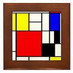Mondrian-4a Framed Tile