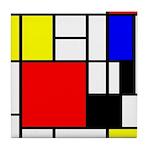 Mondrian-4a Tile Coaster