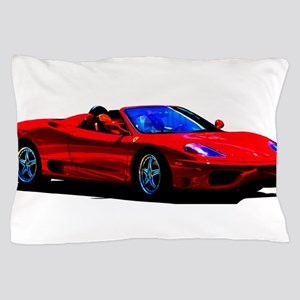 Red Ferrari - Exotic Car Pillow Case