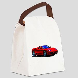 Red Ferrari - Exotic Car Canvas Lunch Bag