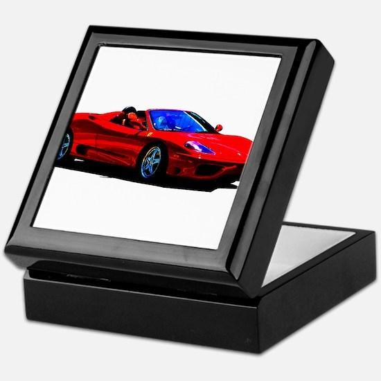 Red Ferrari - Exotic Car Keepsake Box