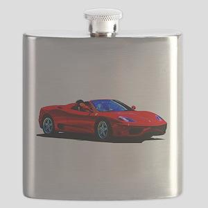 Red Ferrari - Exotic Car Flask