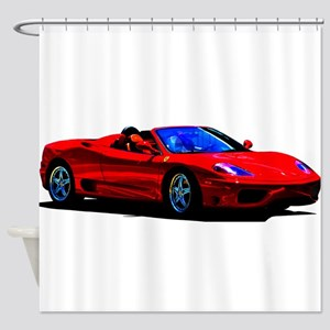 Red Ferrari - Exotic Car Shower Curtain