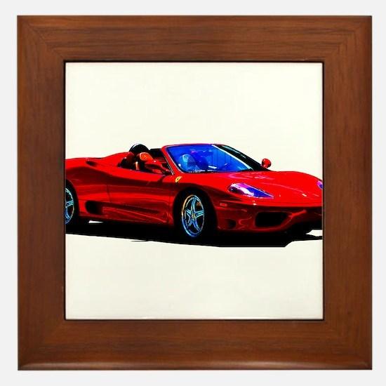 Red Ferrari - Exotic Car Framed Tile