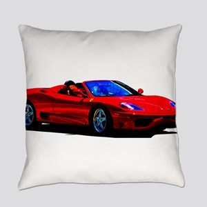 Red Ferrari - Exotic Car Everyday Pillow
