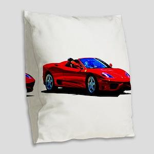 Red Ferrari - Exotic Car Burlap Throw Pillow
