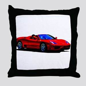 Red Ferrari - Exotic Car Throw Pillow