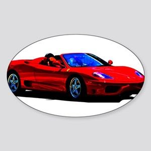 Red Ferrari - Exotic Car Sticker