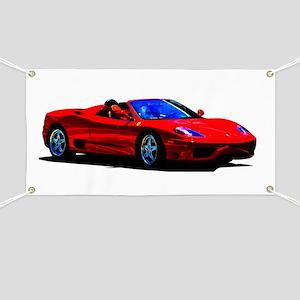 Red Ferrari - Exotic Car Banner