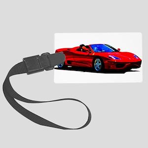 Red Ferrari - Exotic Car Large Luggage Tag