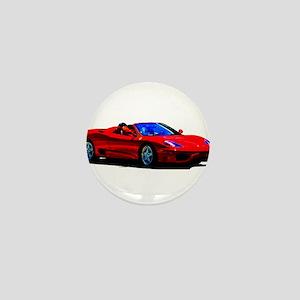 Red Ferrari - Exotic Car Mini Button