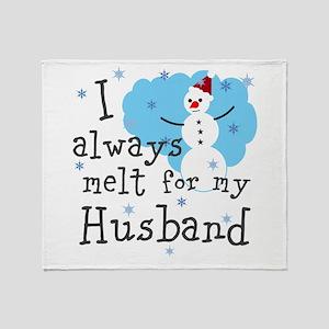 Personalize,I Always Melt Throw Blanket