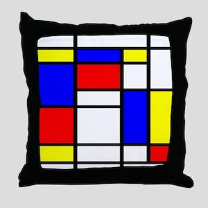 Mondrian-5a Throw Pillow