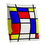 Mondrian-5a Burlap Throw Pillow