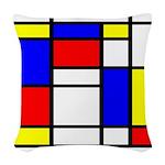 Mondrian-5a Woven Throw Pillow