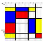 Mondrian-5a Shower Curtain