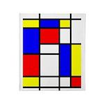 Mondrian-5a Throw Blanket
