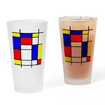 Mondrian-5a Drinking Glass