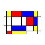 Mondrian-5a 35x21 Wall Decal