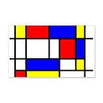 Mondrian-5a 20x12 Wall Decal