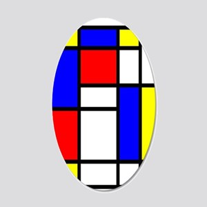 Mondrian-5a 20x12 Oval Wall Decal