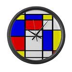 Mondrian-5a Large Wall Clock