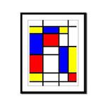 Mondrian-5a Framed Panel Print