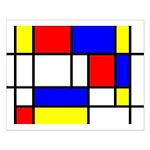 Mondrian-5a Small Poster