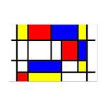 Mondrian-5a Mini Poster Print