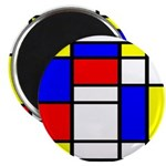 Mondrian-5a Magnet Magnets