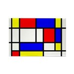 Mondrian-5a Rectangle Magnet Magnets