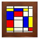 Mondrian-5a Framed Tile