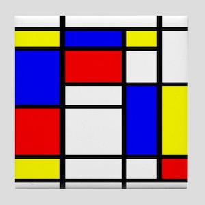 Mondrian-5a Tile Coaster