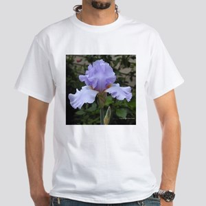 Bearded Iris Then Again White T-Shirt