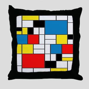 Mondrian-6b Throw Pillow