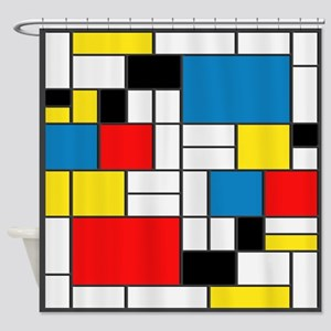 Mondrian-6b Shower Curtain