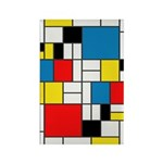 Mondrian-6b Rectangle Magnet Magnets