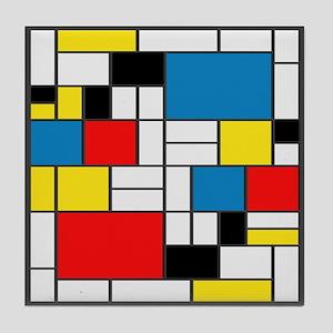 Mondrian-6b Tile Coaster