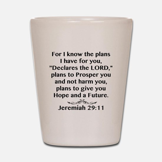 Jeremiah 29:11 Black Print Shot Glass