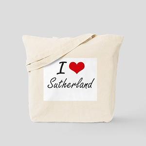 I Love Sutherland artistic design Tote Bag