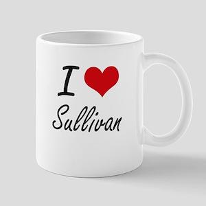 I Love Sullivan artistic design Mugs