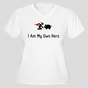 Pigs Hero Women's Plus Size V-Neck T-Shirt