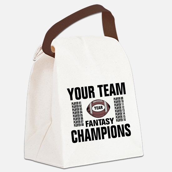 Your Team Personalized Fantasy Fo Canvas Lunch Bag