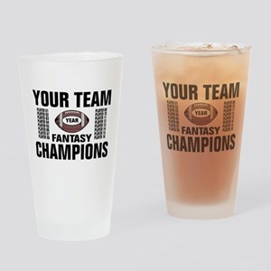 Your Team Personalized Fantasy Foot Drinking Glass