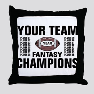 Your Team Personalized Fantasy Footba Throw Pillow