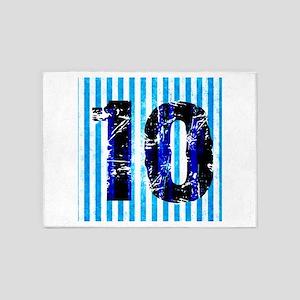 TEN CANDY BLUE STRIPE DARK 5'x7'Area Rug