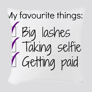 Favourite Things Makeup Woven Throw Pillow