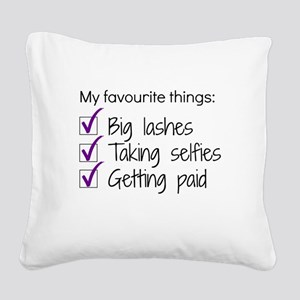 Favourite Things Makeup Square Canvas Pillow