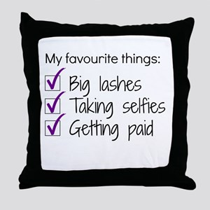 Favourite Things Makeup Throw Pillow
